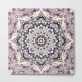 Abstract Octagonal Mandala Metal Print