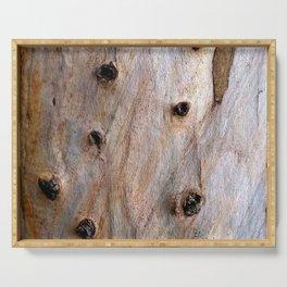 Eucalyptus Tree Bark and Wood Texture 14 Serving Tray