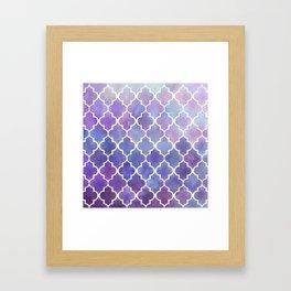 Purples & Pinks Watercolor Moroccan Pattern Framed Art Print