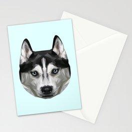 Husky // Pastel Blue Stationery Cards