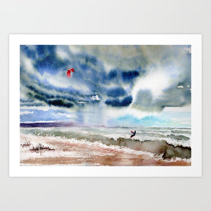 Sunday's Society6 | Storm landscape art print