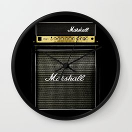 guitar electric amp amplifier iPhone 4 4s 5 5s 5c, ipod, ipad, tshirt, mugs and pillow case Wall Clock