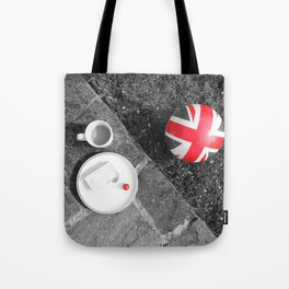 British Sunday - Still Life | Selective Red Tote Bag