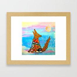 HOWLIN COYOTE Framed Art Print