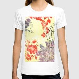 freedom and sunshine: linoprint T-shirt