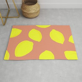 Lemon Print Rug