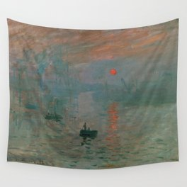 Claude Monet - Impression, Sunrise Wall Tapestry