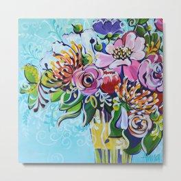 Graphic Floral 3 Metal Print
