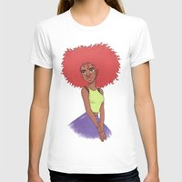 afro T-shirts featuring Afro girl by Joan Pons