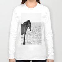 pony Long Sleeve T-shirts featuring Assateague Pony by Biff Rendar