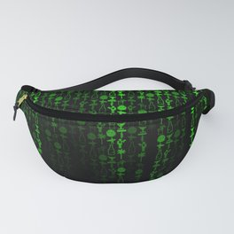 Bright Neon Green Digital Cocktail Party Fanny Pack