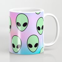 tumblr Mugs featuring Aliens Tumblr by Hipster's Wonderland