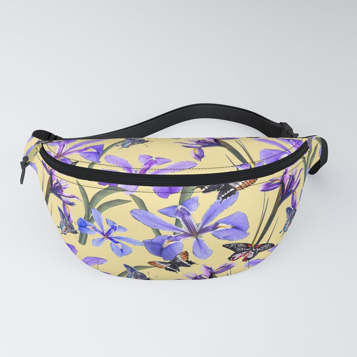 Irises and Butterflies Fanny Pack