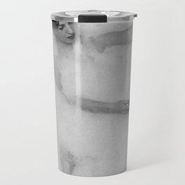 A Good Book and a Bath, female form black and white photography / photograph Travel Mug