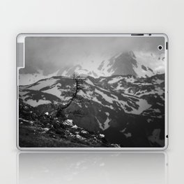Lonely tree with stunning view on mountains Laptop & iPad Skin