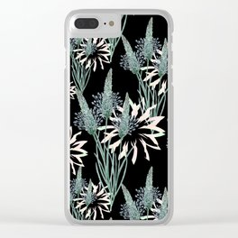 Floral pattern.8 Clear iPhone Case