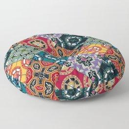 DESEO BOLD spanish tiles Floor Pillow
