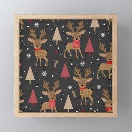 Love Reindeers Framed Mini Art Print
