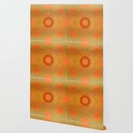 """Savanna Orange-Gold Mandala"" Wallpaper"