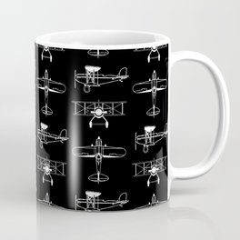 Biplanes // Black Coffee Mug