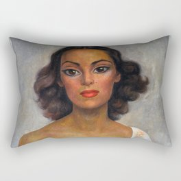 1938 Classical Masterpiece 'Dolores Del Rio' by Diego Rivera Rectangular Pillow