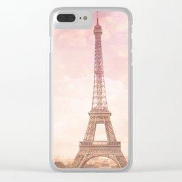 Paris in Pink Clear iPhone Case