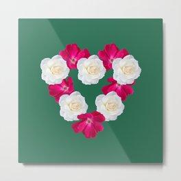Rose Heart Emerald Metal Print