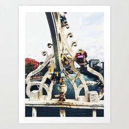 Love Locks on the Ha'penny Bridge Art Print