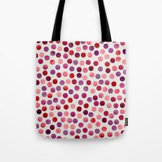 Watercolor Dots_Berry by zJacqueline and Garima Tote Bag