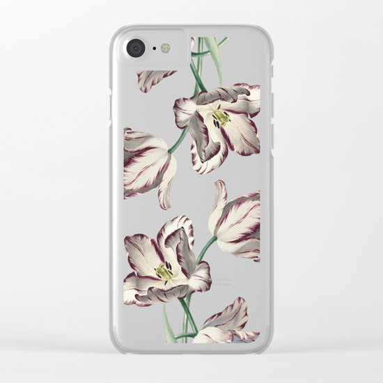 Spring Tulipa Clear iPhone Case