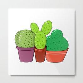 Colorful family of cacti. Metal Print