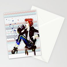 A Redhead Sitting Stationery Cards