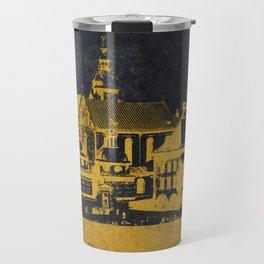 Krakow skyline gold black #cracow Travel Mug