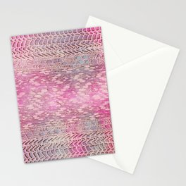 knit patchwork in soft pink Stationery Cards