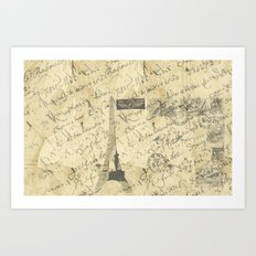 Parisian French Script Art Print