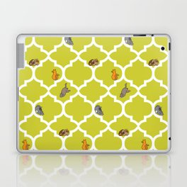 Cats on a Lattice - Yellow Laptop & iPad Skin