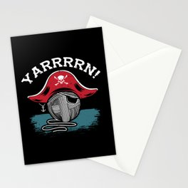 Knitting & Chrocheting Pun: Yarrrrn I For Pirates Stationery Cards