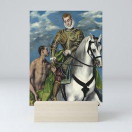 "El Greco (Domenikos Theotokopoulos) ""Saint Martin and the Beggar"" Mini Art Print"
