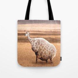 Cute Funny Fat Giraffe Tote Bag
