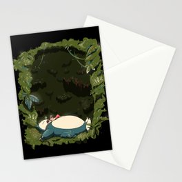 Sleeping with Snorlax Stationery Cards