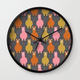 The Alpacas III Wall Clock