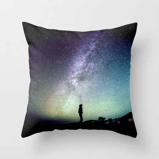 Deep Thoughts Of the Universe Throw Pillow