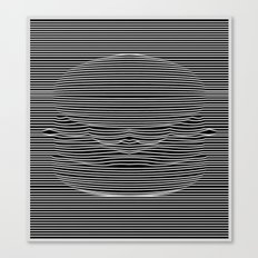 Cheeseburger Optical Illusion Canvas Print