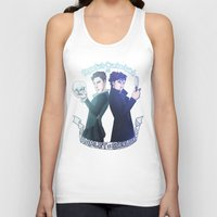 enerjax Tank Tops featuring Benedict Cumberbatch as Hamlet x Sherlock by enerjax