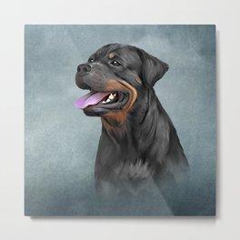 Drawing dog rottweiler Metal Print