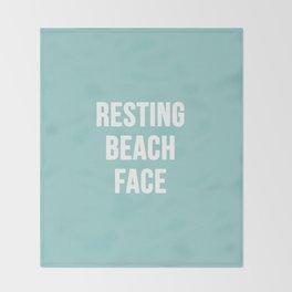 Resting Beach Face Throw Blanket
