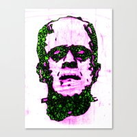 frank Canvas Prints featuring Frank by Fimbis
