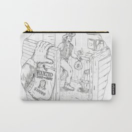 Cowboy Robbing Saloon Drawing Carry-All Pouch