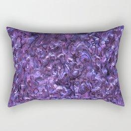 Abalone Shell | Paua Shell | Violet Tint Rectangular Pillow