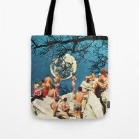 the moon Tote Bags featuring Moon by Ben Giles